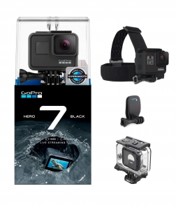 Kamera GoPro HERO 7 BLACK + Head Strap + Obudowa Super Suit